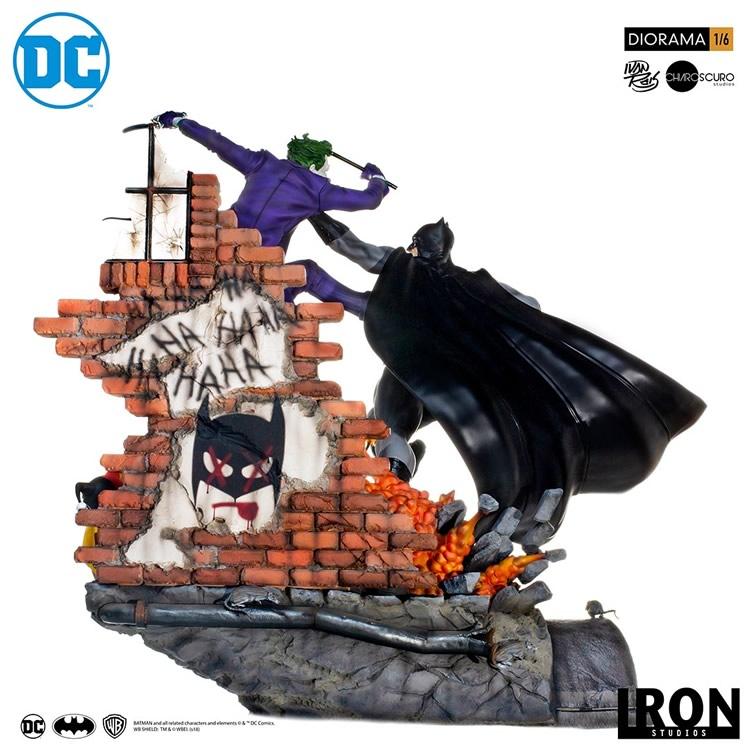 inimigo meu iron studios diorama de batman vs joker 3 - Inimigo Meu: Iron Studios lança estátua de Batman vs. Joker!