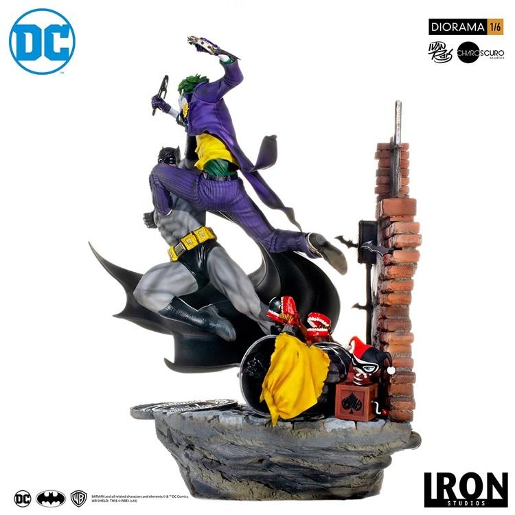 inimigo meu iron studios diorama de batman vs joker 4 - Inimigo Meu: Iron Studios lança estátua de Batman vs. Joker!