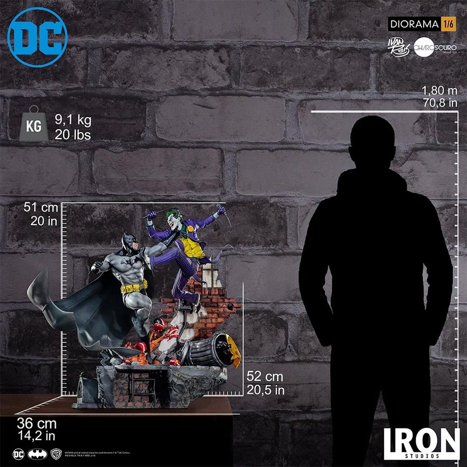 inimigo meu iron studios diorama de batman vs joker 7 - Inimigo Meu: Iron Studios lança estátua de Batman vs. Joker!