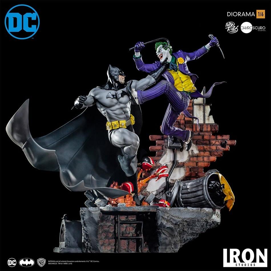 inimigo meu iron studios diorama de batman vs joker 8 - Inimigo Meu: Iron Studios lança estátua de Batman vs. Joker!