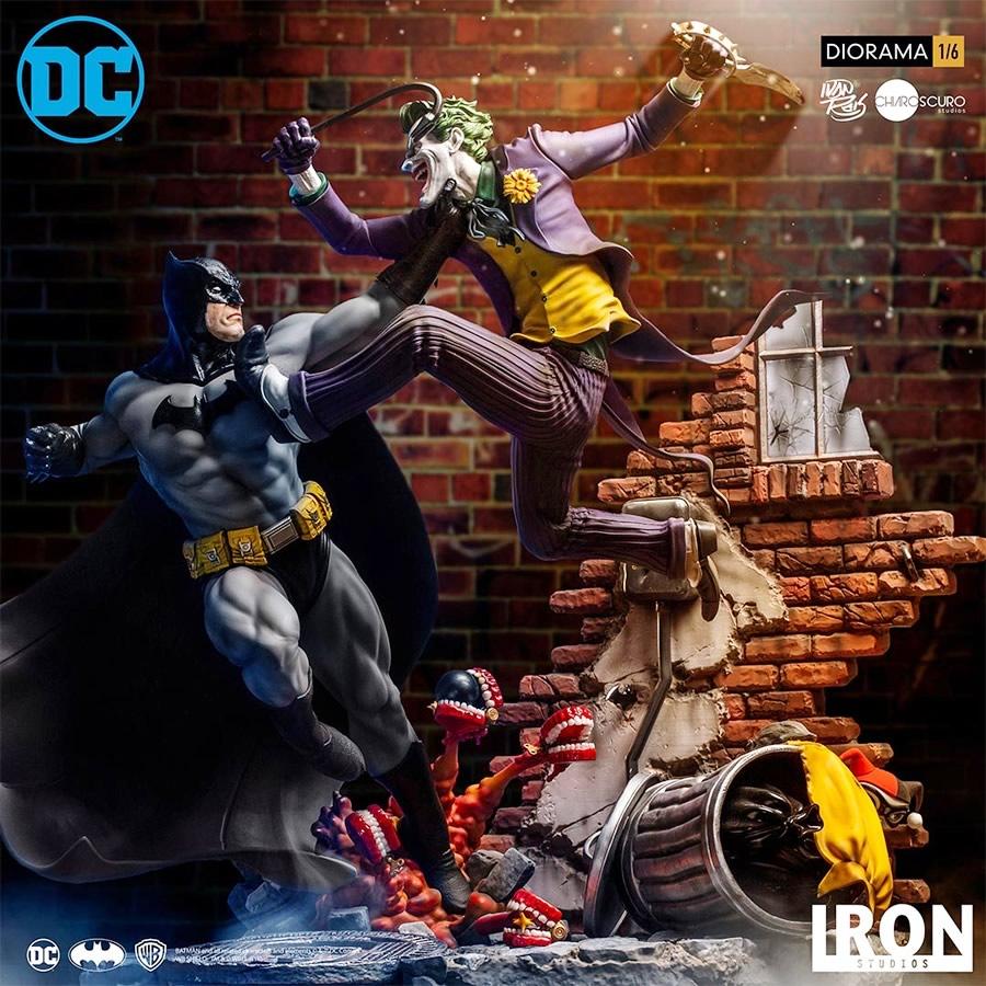 inimigo meu iron studios diorama de batman vs joker - Inimigo Meu: Iron Studios lança estátua de Batman vs. Joker!