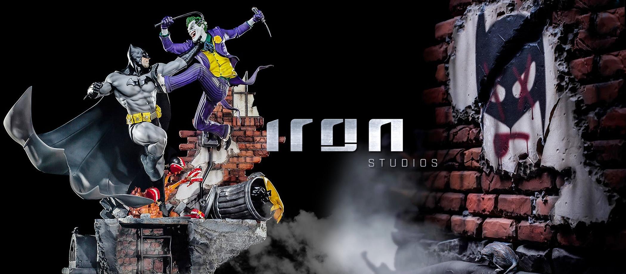 inimigo meu iron studios estatua de batman vs joker - Inimigo Meu: Iron Studios lança estátua de Batman vs. Joker!