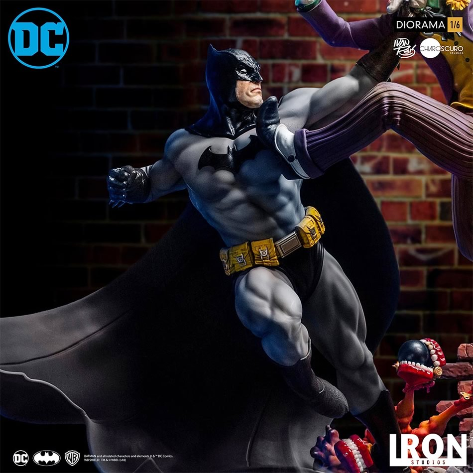 inimigo meu iron studios estatua de batman vs joker5 - Inimigo Meu: Iron Studios lança estátua de Batman vs. Joker!