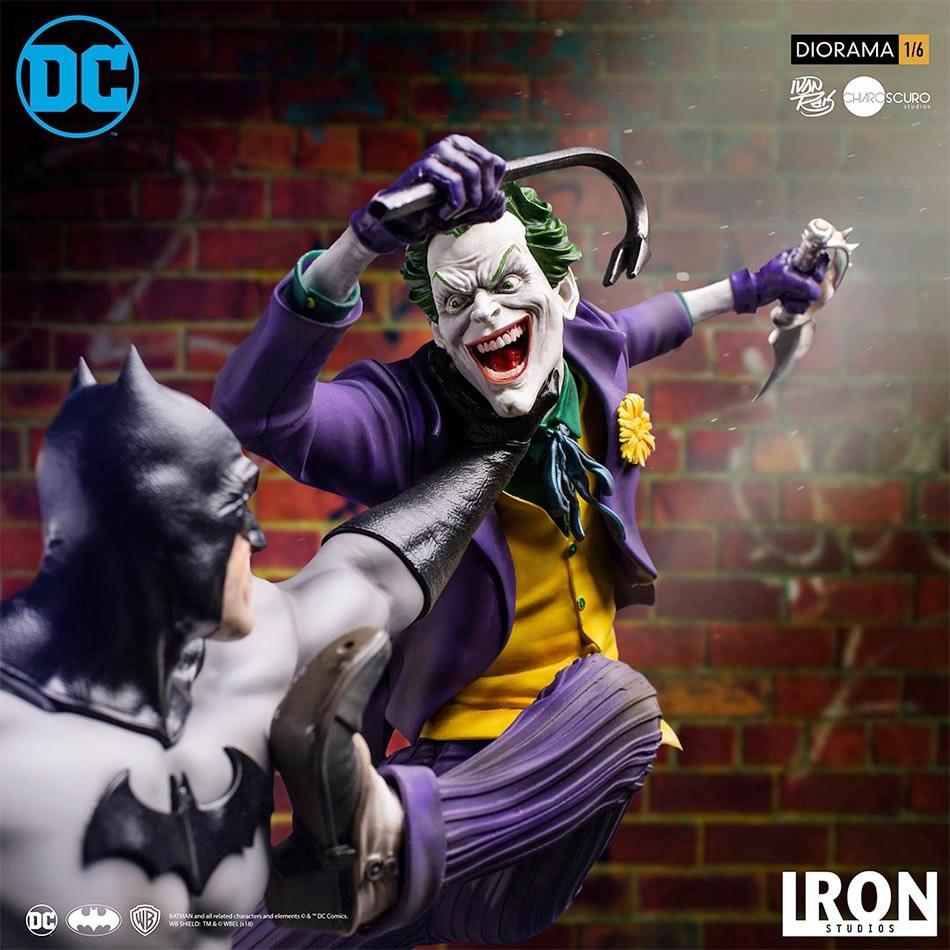 inimigo meu iron studios estatua de batman vs joker7 - Inimigo Meu: Iron Studios lança estátua de Batman vs. Joker!