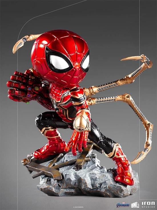 iron spider avengers endgame minico iron studios vista frente - Iron-Spider de Avengers: Endgame ganha versão Minico da Iron Studios