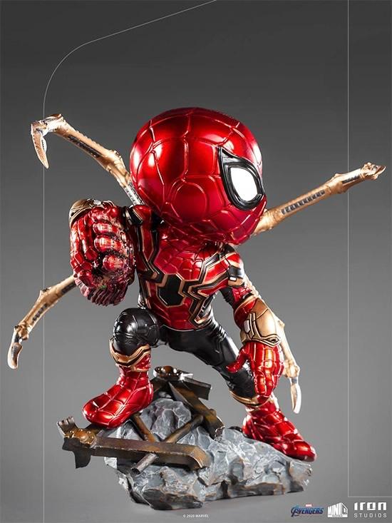 iron spider avengers endgame minico iron studios vista perfil - Iron-Spider de Avengers: Endgame ganha versão Minico da Iron Studios