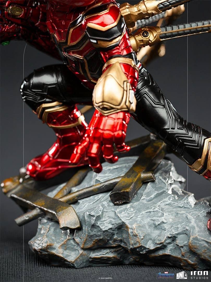 iron spider avengers endgame versao minico iron studios base - Iron-Spider de Avengers: Endgame ganha versão Minico da Iron Studios