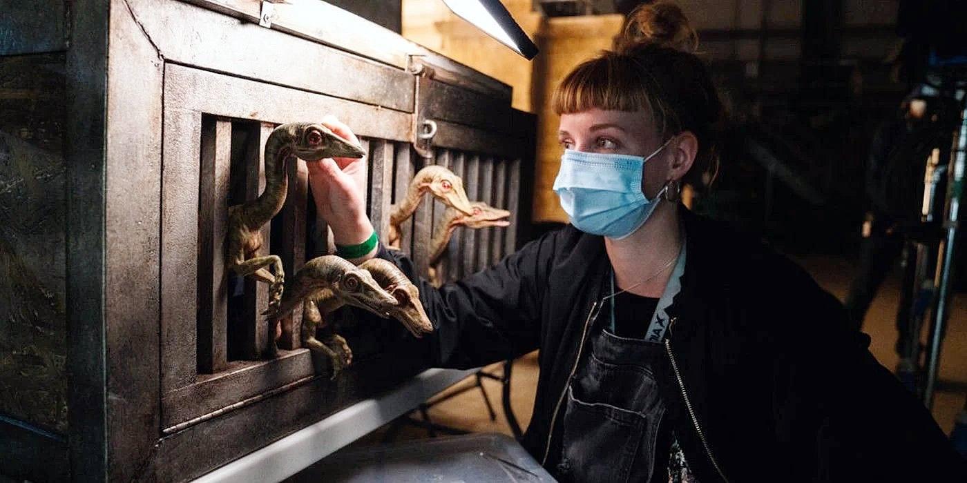 Jurassic World: Dominion | Foto de bastidores do set revela a volta do dinossauro de Jurassic Park: O Mundo Perdido