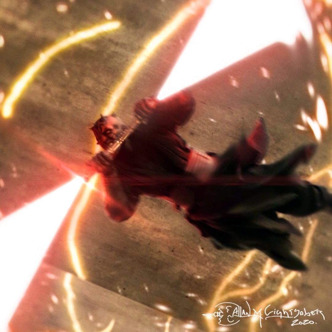 maul spin close up arte allan lightsaber - Conheça Allan Lightsaber customizador de Sabres de Luz - Hot Toys e Sideshow Collectibles
