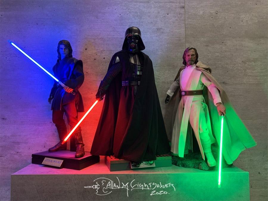 star wars anakin darth vader luke skywalkerl hot toy ok - Conheça Allan Lightsaber customizador de Sabres de Luz - Hot Toys e Sideshow Collectibles