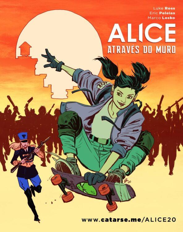 Alice Através do Muro por Eric Peleias e Luke Ross no Catarse