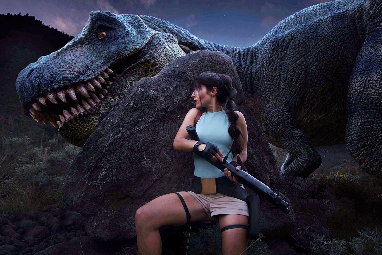 crofty model cosplayer tomb raider 1 a - Crofty - The Old School Lara Croft Cosplayer