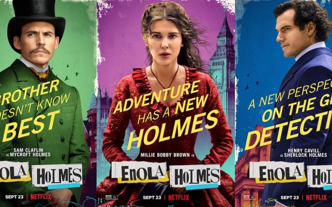 Enola Holmes | Filme com Millie Bobby Brown tem cartazes individuais dos personagens divulgados