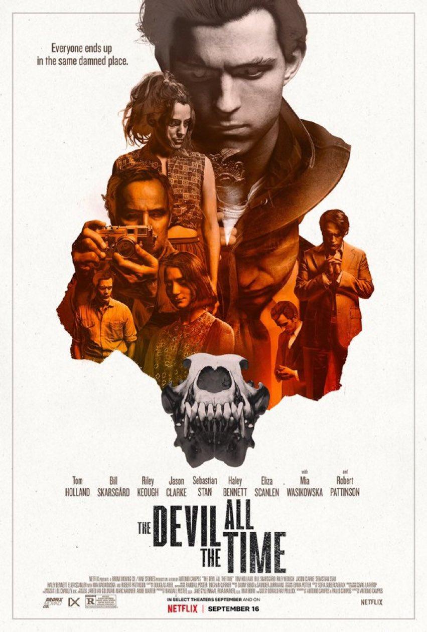 O Diabo de Cada Dia   Neflix divulga poster do filme com Tom Holland e Robert Pattinson