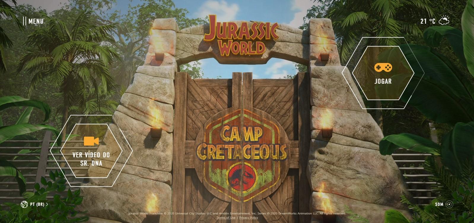 site jurassic world camp cretaceous - Jurassic World: Acampamento Jurássico animação na Netflix ganha trailer e site interativo