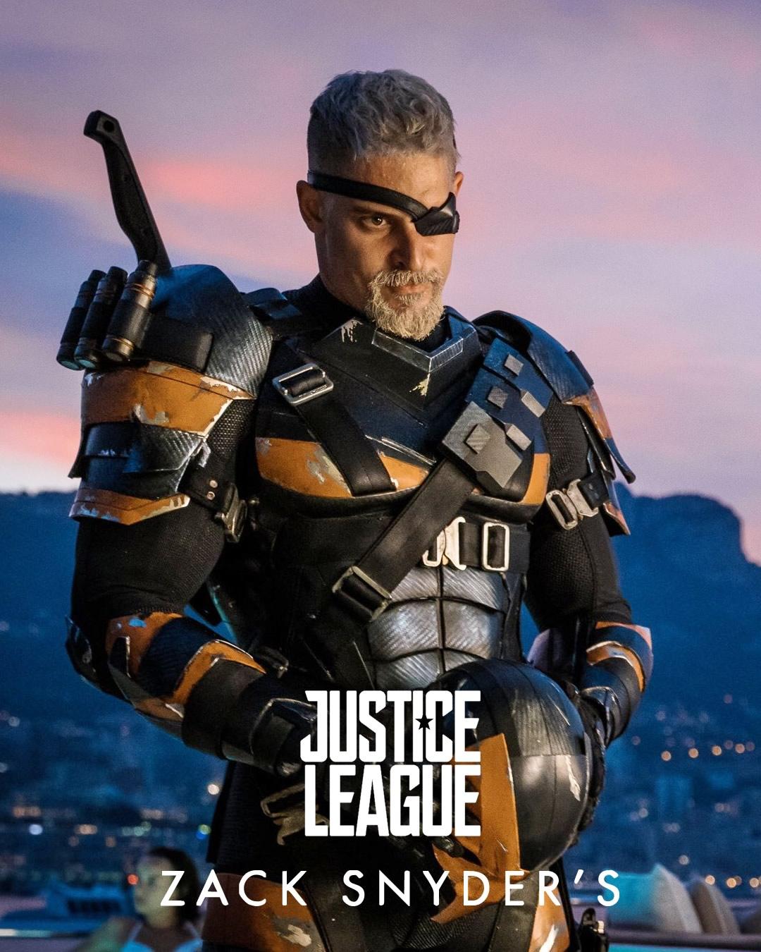 deathstroke jl joe manganiello poster - Exterminador de Joe Manganiello estará em Liga da Justiça: Snyder Cut
