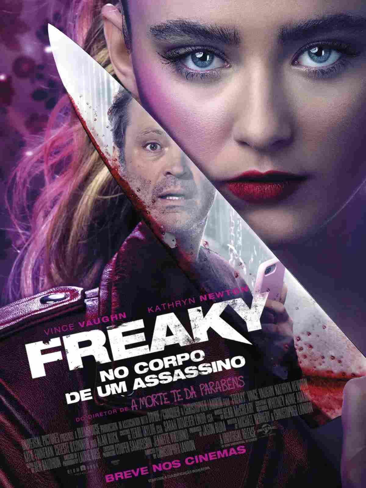 freaky no corpo de um assassino poster - Freaky: No Corpo de um Assassino  | Comédia de troca de corpos entre uma adolescente e um serial killer