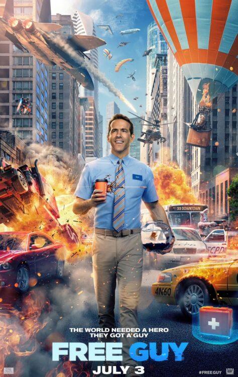 FREE GUY Assumindo o Controle Novo trailer com Ryan Reynolds lutando para salvar seu mundo de videogame