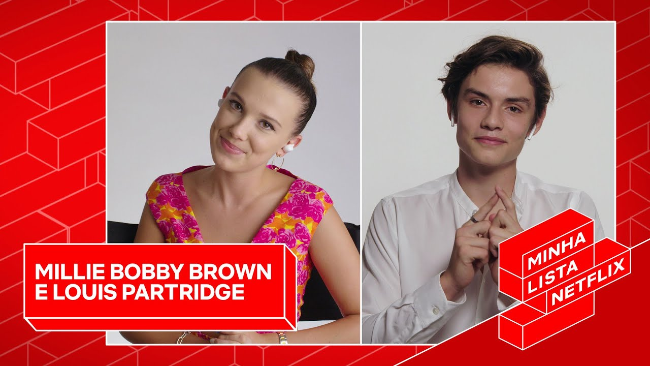 Millie Bobby Brown e Louis Partridge fazem uma lista de preferências de filmes e série da Netflix