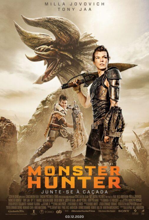 monster hunter poster 1 506x750 - Monster Hunter Sony divulga trailer oficial com Milla Jovovich enfrentando monstros gigantescos