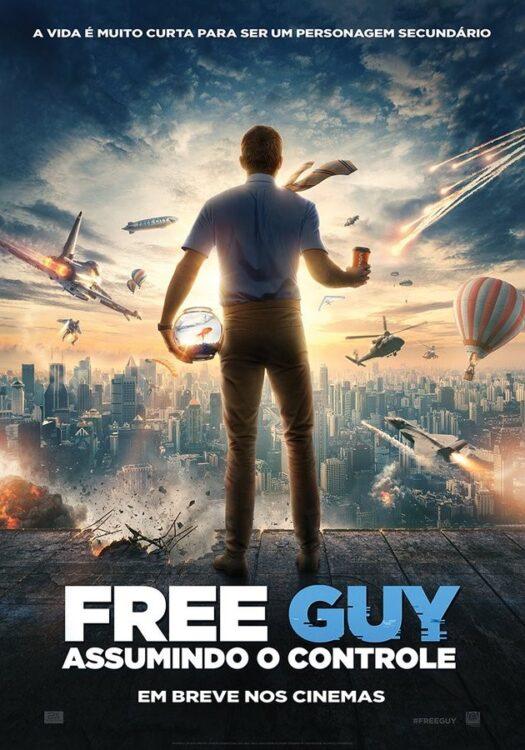 poster free guy assumindo o controle 525x750 - FREE GUY Assumindo o Controle | Novo trailer com Ryan Reynolds lutando para salvar seu mundo de videogame