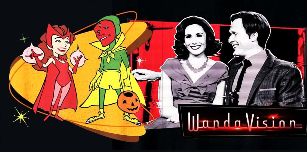 WandaVision: Nova lista da Amazon com artes de material promocional para camisas