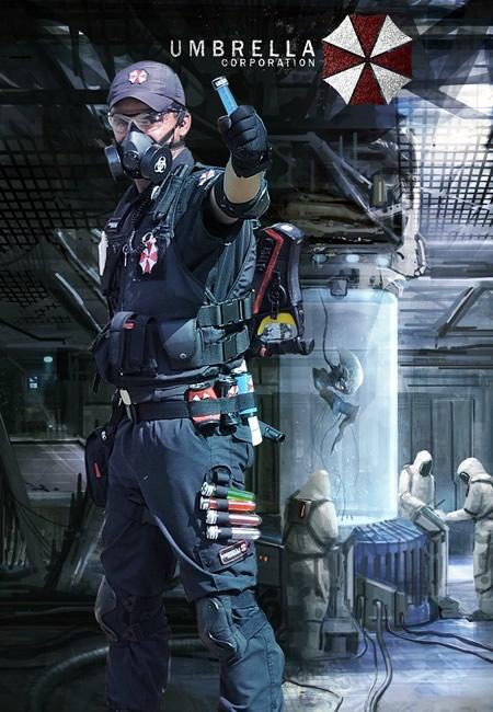 Cosplayer - Agente Thunder - Umbrella Corporation
