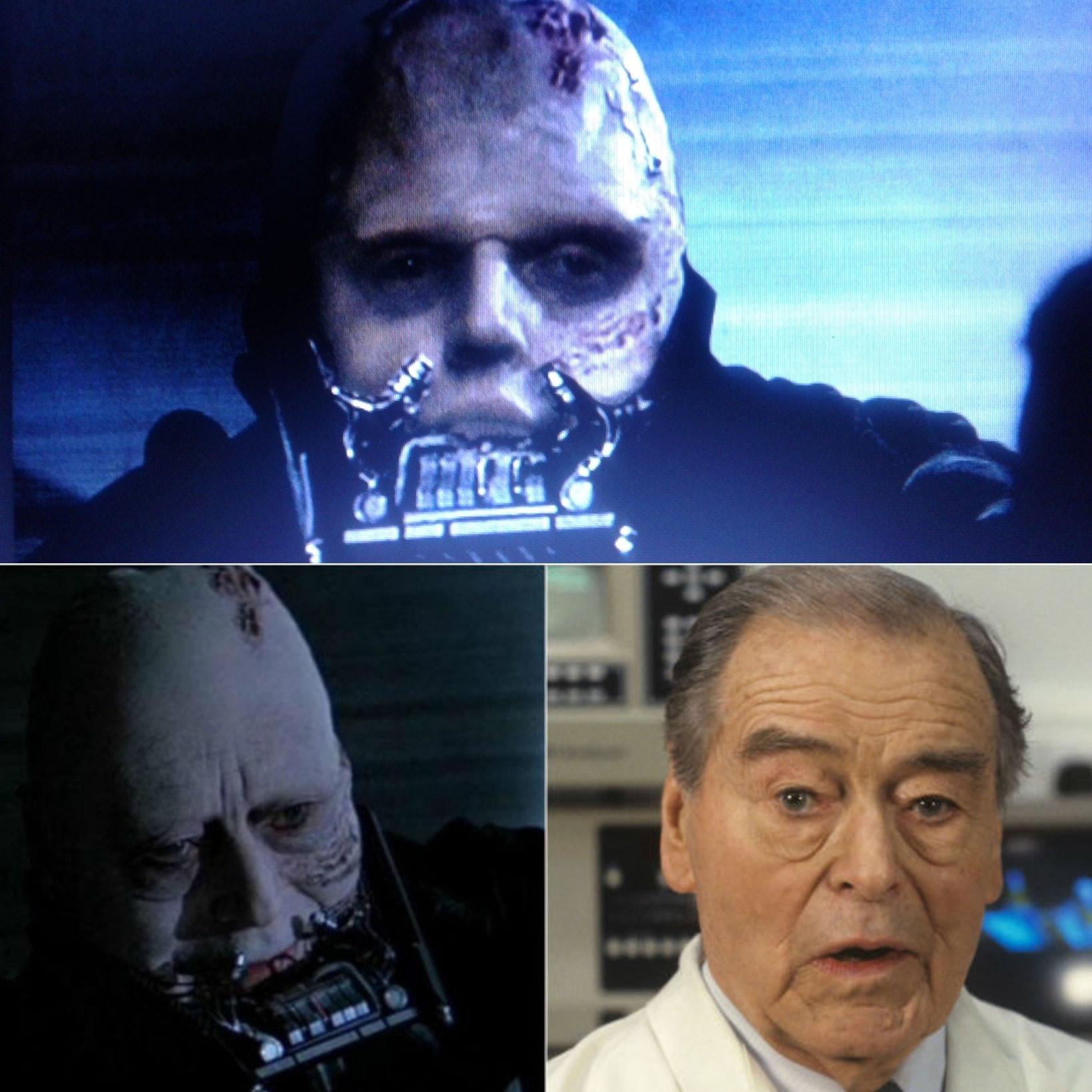 A FACE REVELADA DE DARTH VADER EM O RETORNO DE JEDI rosto substituido pelo do ator Sebastian Shaw