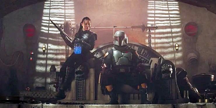 Boba Fett e Fennec Shand no palácio de Jabba  o Hutt final de The Mandalorian segunda temporada