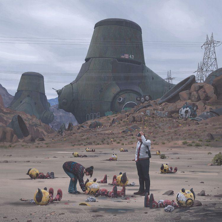 the eletric state romance ilustrado de simon stalenhag a 750x750 - The Electric State | Millie Bobby Brown no filme de ficção científica dos Irmãos Russo