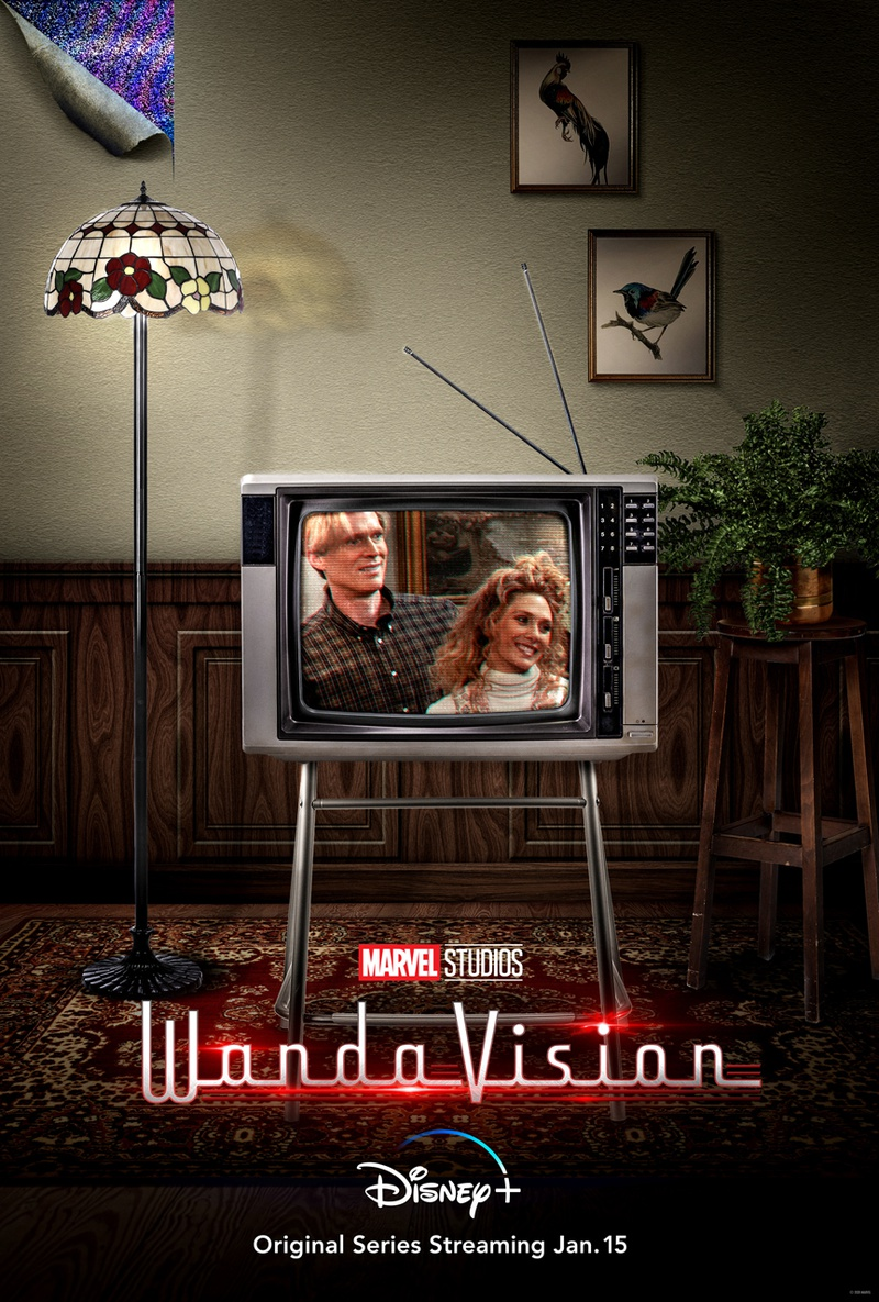 WandaVision | Marvel divulga novos pôsteres com Elizabeth Olsen e Paul Bettany