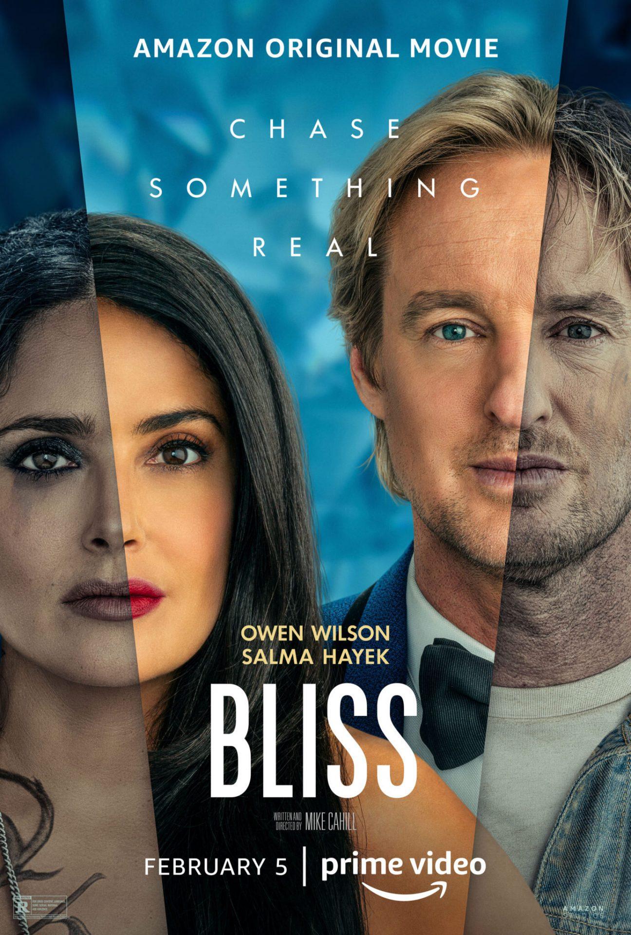 bliss com owen wilson e salma hayeks na amazon prime video - BLISS   Owen Wilson e Salma Hayek questionando a realidade em filme de ficção científica da Amazon Prime Video