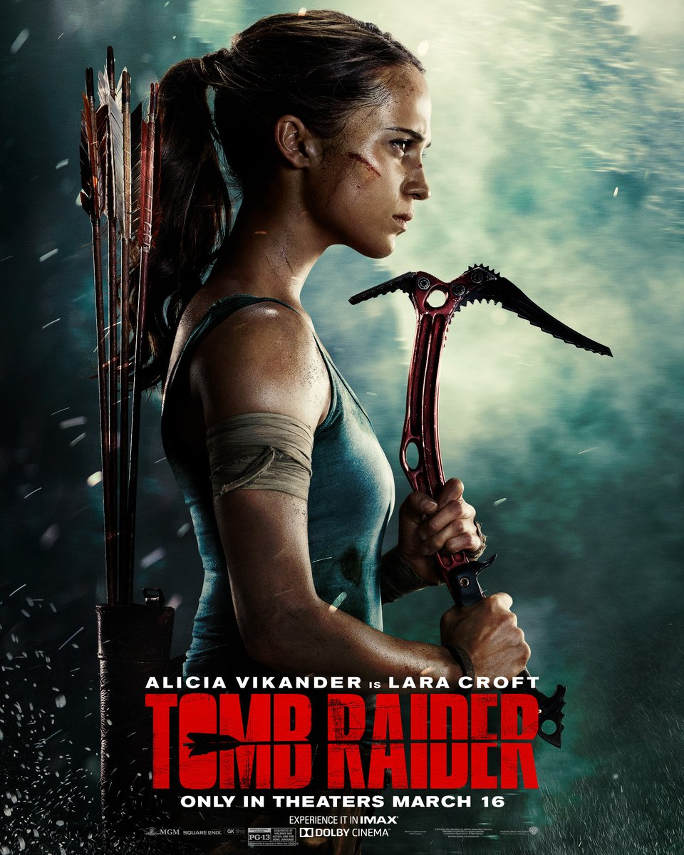 tomb raider com alicia vikander poster - TOMB RAIDER 2, com Alicia Vikander, será escrito e dirigido por Misha Green criadora de LOVECRAFT COUNTRY