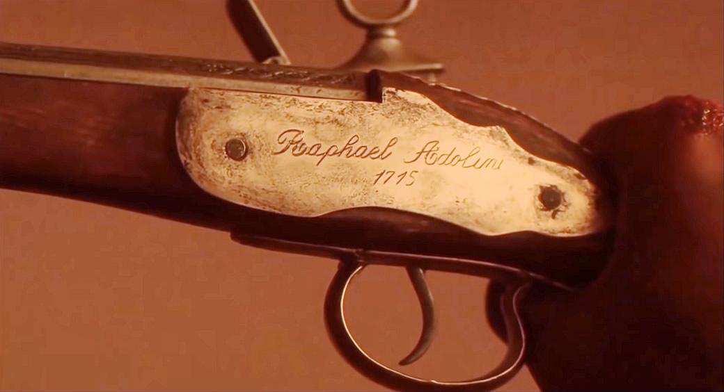 Predador 2 - Greyback com a pistola de Raphael Adolini de 1715