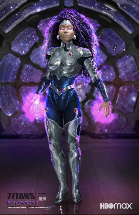 titans terceira temporada visual de estrela negra revelado 2 485x750 - Titans Terceira Temporada | Visual de Estrela Negra é revelado