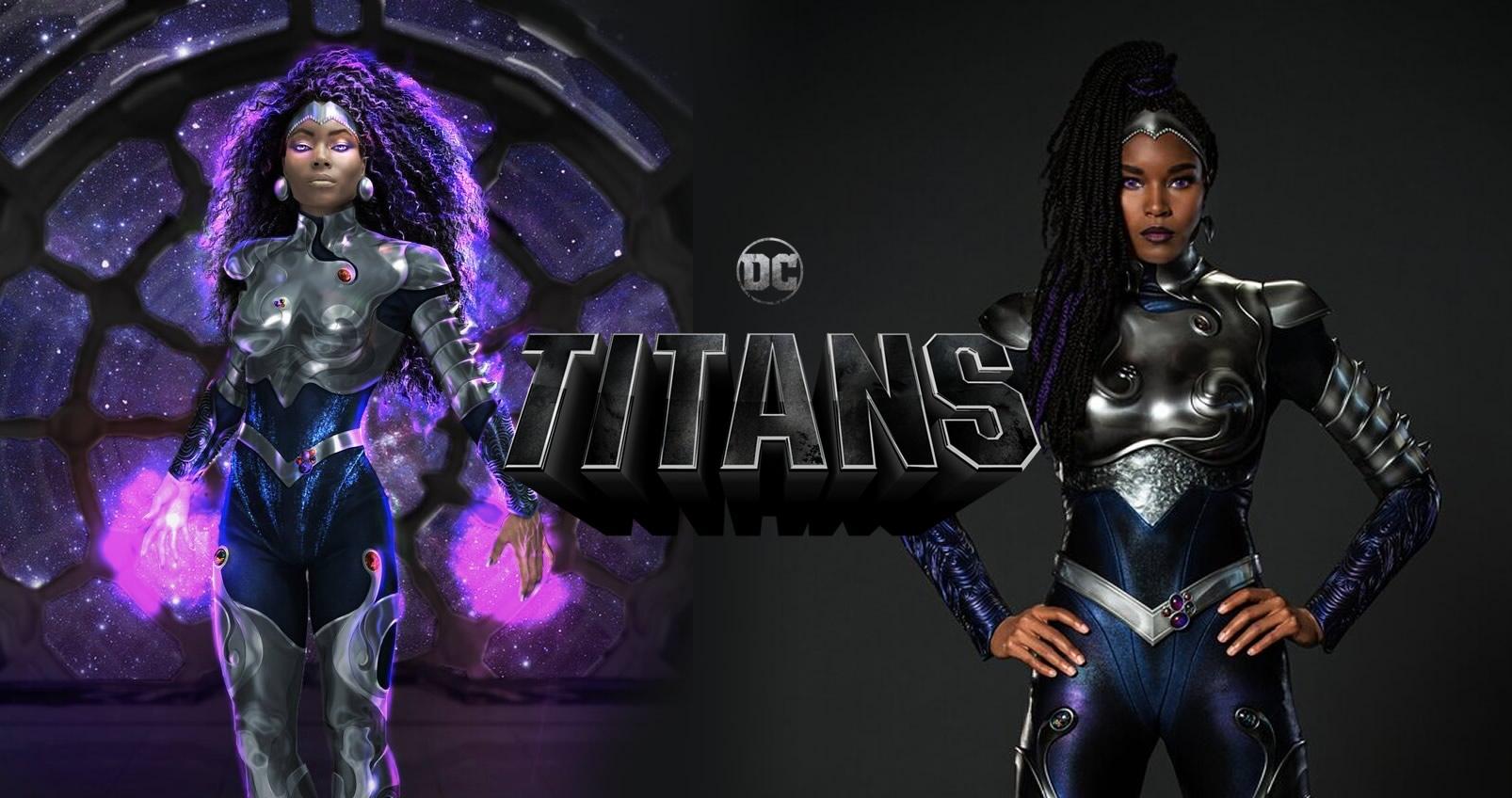 Titans Terceira Temporada Visual de Estrela Negra é revelado