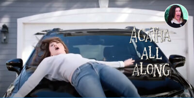 Agatha Harkness   Fã edita comercial da Chrysler com a atriz Kathryn Hahn de WandaVision