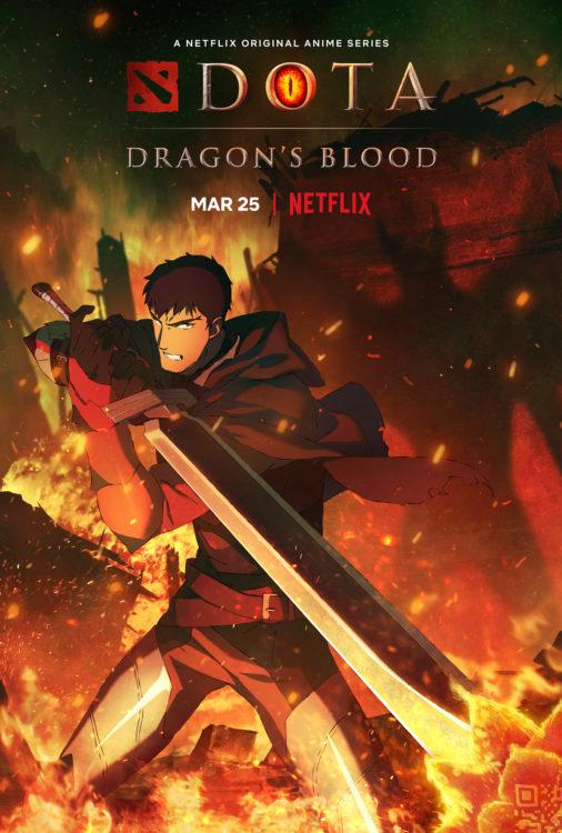 dota dragons blood serie animada netflix poster4 506x750 - DOTA: Dragon's Blood | Série anime da Netflix tem trailer divulgado