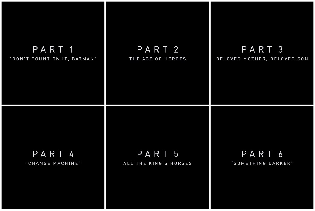 Liga da Justiça de Zack Snyder | Títulos dos seis capítulos do filme são divulgados