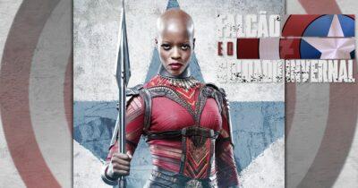 Falcão e o Soldado Invernal | Pôster de Ayo de Pantera Negra interpretada por Florence Kasumba