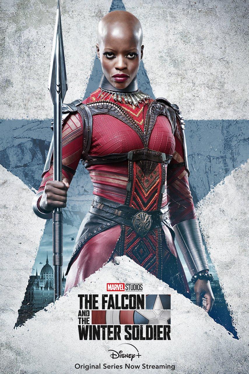 Falcão e o Soldado Invernal   Poster de Ayo de Pantera Negra interpretada por Florence Kasumba