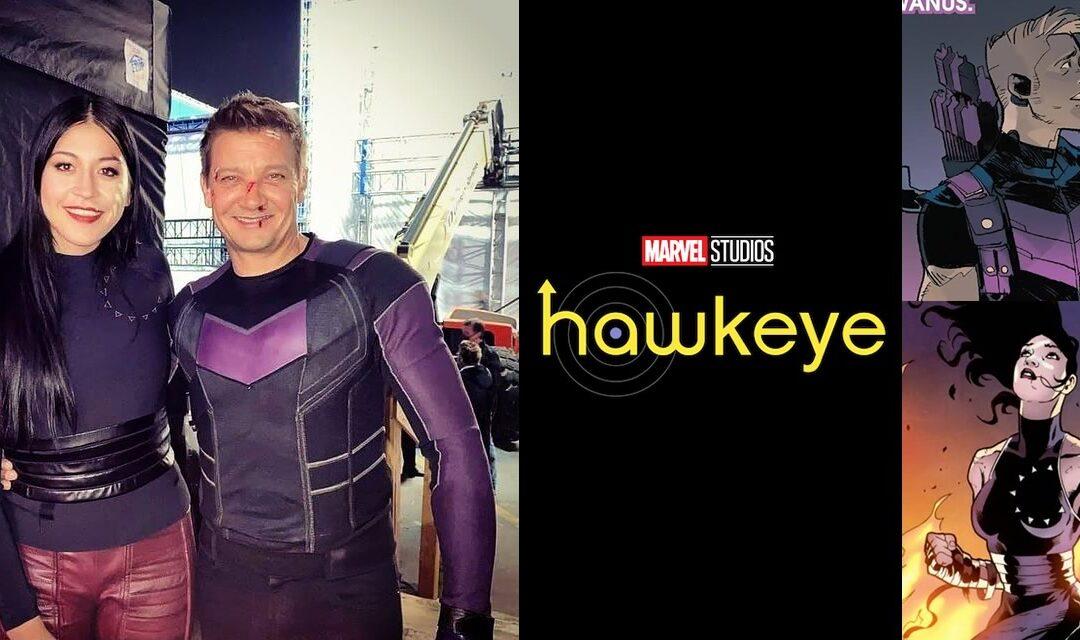 Hawkeye | Foto dos bastidores mostra o figurino de Gavião Arqueiro e Echo