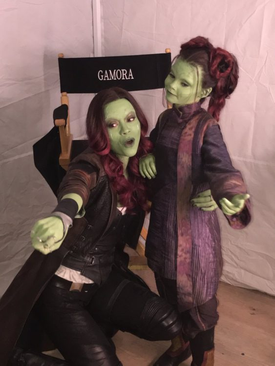 Vingadores Guerra Infinita - Ariana Greenblatt fez a Gamora criança