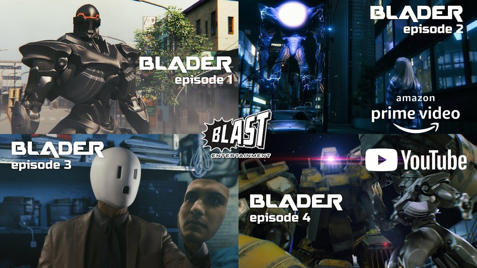 BLADER | Série de colaboração de Hollywood será lançada no Amazon Prime e no YouTube