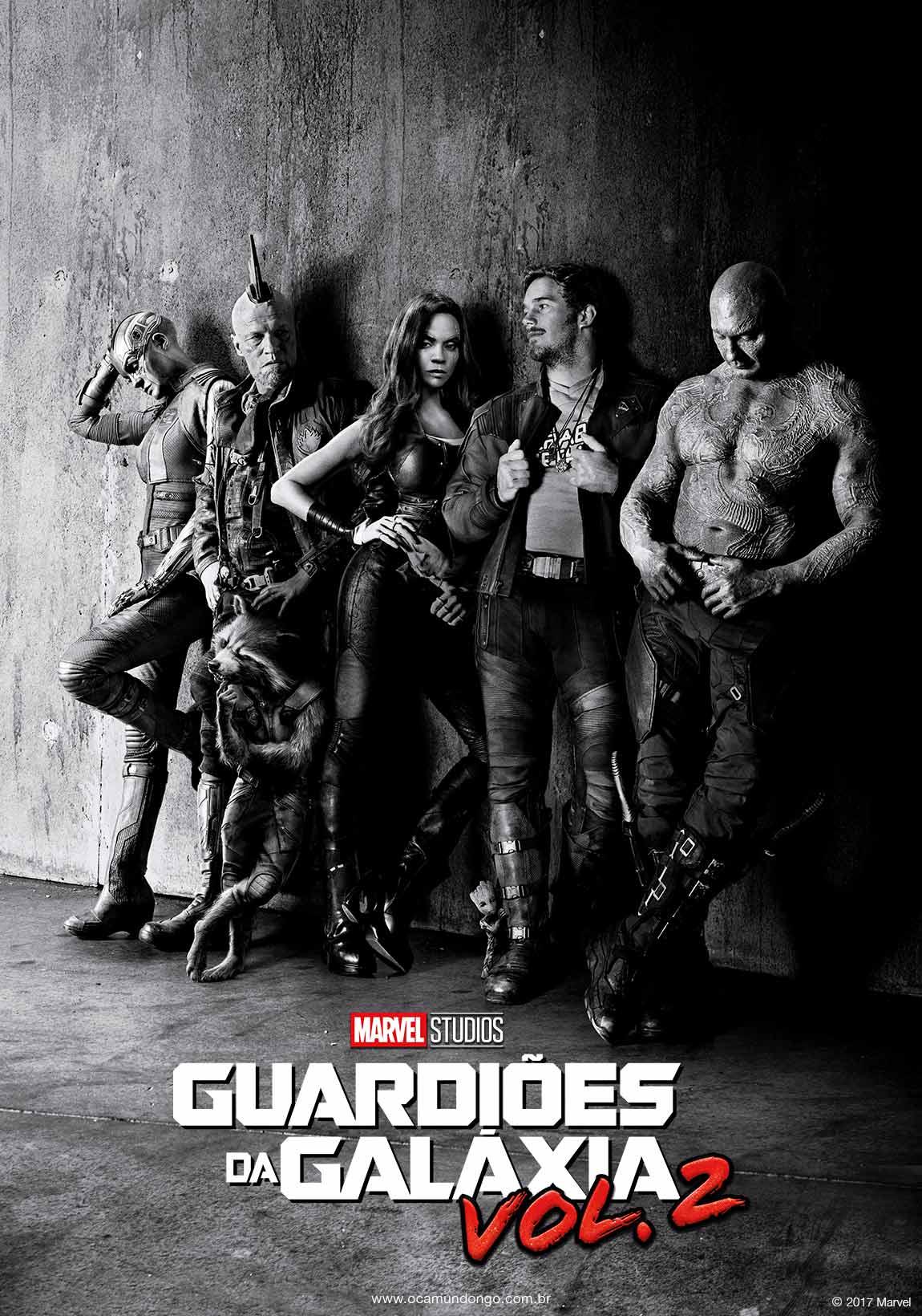 guardioes da galaxia volume 2 poster - GUARDIÕES DA GALAXIA VOLUME 3 | Dave Bautista revelou que Drax pode chegar ao fim no terceiro filme