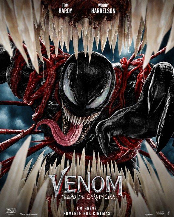 Venom Tempo de Carnificina Sony Pictures divulga trailer da sequência com Tom Hardy