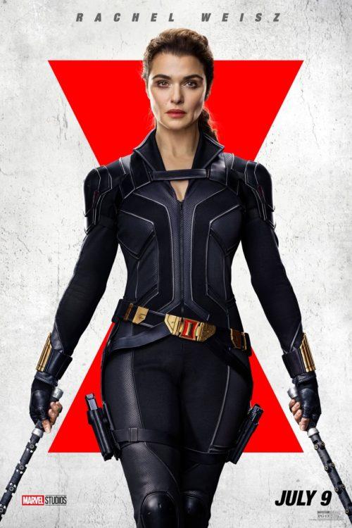 Viúva Negra | Novos pôsteres individuais dos personagens - Rachel Weisz