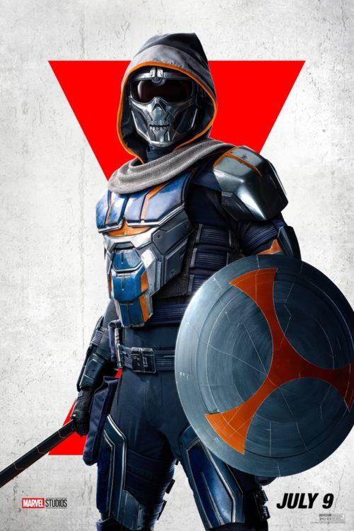 Viúva Negra | Novos pôsteres individuais dos personagens - Taskmaster