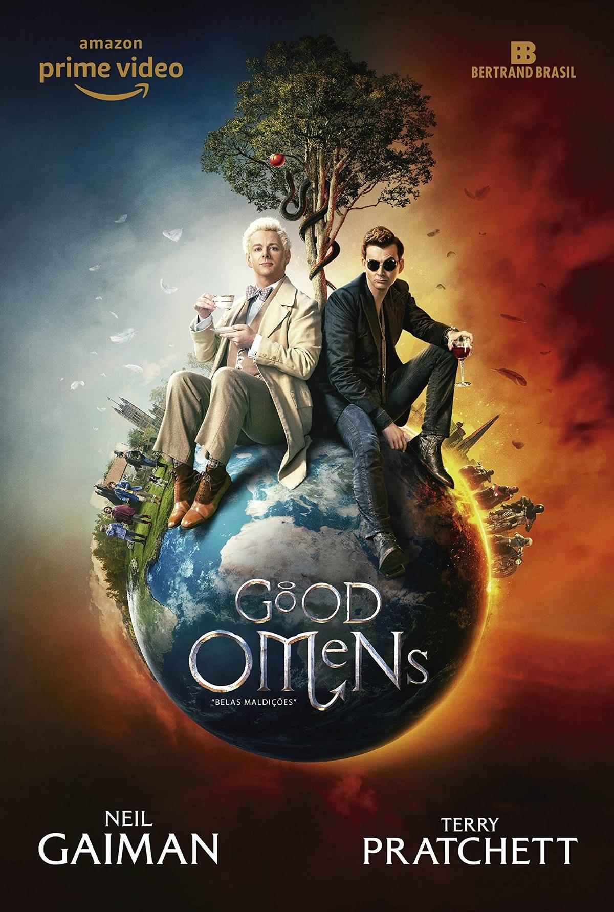 good omens amazon prime video renova para segunda temporada serie de neil gaiman e terry pratchett poster - GOOD OMENS | Amazon Prime Vídeo renova para segunda temporada a série de Neil Gaiman e Terry Pratchett