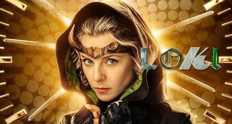 Lady Loki interpretada por Sophia Di Martino, em pôster da série Loki da Marvel Studios